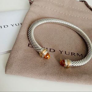 David Yurman Cable Classics Bracelet Citrine Gold